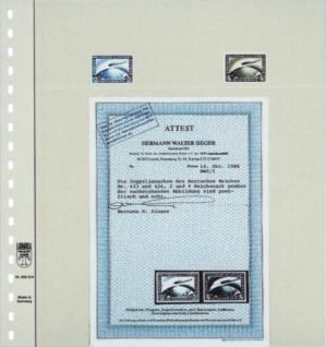 1 x LINDNER 802214 T-Blanko-Blätter Blankoblatt 18-Ring Lochung - 2 Taschen 74 / 209 x 235 mm - Vorschau 2