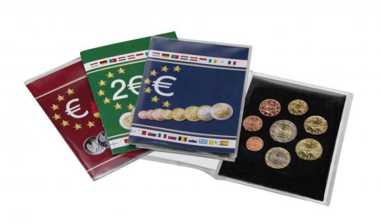 1 x SAFE 1360 Münzkarten Sammelkarten Folder Blister Klappkarten 1x kompletten Euro Kursmünzensatz KMS 1, 2, 5, 10, 20, 50 Cent 1, 2 Euro - Vorschau 2