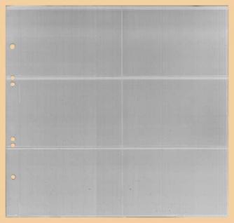 1 x KOBRA G46E Ergänzungsblätter - Ersatzblätter 6 Taschen glasklar Querformat 120 x 80 mm Für Banknoten - Liebigbilder - Reklamebilder Sammelbilder