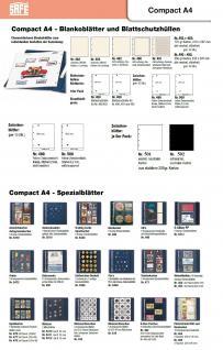 50 x SAFE 5475 Autogrammkartenhüllen Hüllen Ergänzungsblätter DIN A4 4er Teilung für bis zu 400 Autogramme & Autographen - Vorschau 5