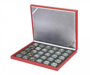 LINDNER S2380BS-2K Nera M RUBIN Münzkassetten BLACK SAMT Für 30 dt. 5 Euro Gedenkmünzen Blauer Planet 2016 & Klimazonen 2017 - 2018 - 2019 - 2020 - 2021 + 30 in Münzkapseln 27, 5 mm