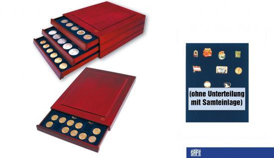 SAFE 6860 Nova Exquisite Holz Sammeboxen ohne Unterteilung 233x183 mm Für Pins Buttons Anstecknadeln