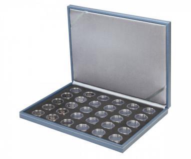 LINDNER S2381BS-2K Nera M AZUR Münzkassetten BLACK SAMT Für 30 dt. 5 Euro Gedenkmünzen Blauer Planet 2016 - 2021 + 30 in Münzkapseln 27, 5 mm