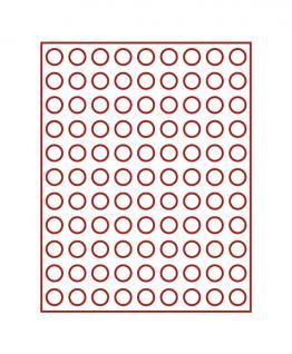 LINDNER 2950E Velourseinlagen Dunkelrote für Münzbox Münzboxen Kassetten Münzkoffer