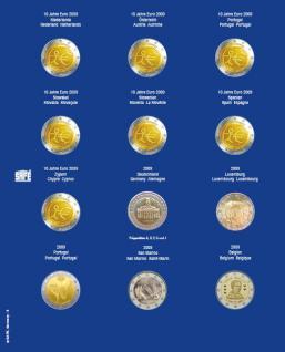 1 x SAFE 7302-6 TOPset Münzblätter Ergänzungsblätter Münzhüllen mit farbigem Vordruckblatt für 2 Euromünzen Gedenkmünzen in Münzkapseln 26 - 2009