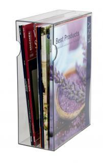 """SAFE 7950 Acryl - Archiv Box A4 Design """" Zeitschriftensammler """" Deko Bücherstütze Für bis zu 15 Comics - Romane - Fachzeitschriften - Illstrierte"""
