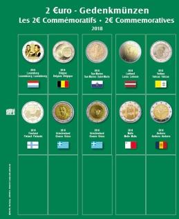 SAFE 7341-22 Premium Münzblätter 7393 mit Vordruckblättern 2 Euro Münzen Gedenkmünzen 2018