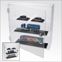 SAFE 5249 Acrylglas Design Viitrinen Setzkasten Box Medium 240 x 240 x 60 mm 3 Ebenen abschließbar - Für Modellbau Mini Trucks - Autos - KFZ