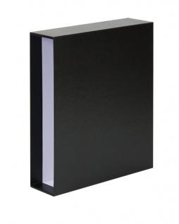 LINDNER 3504-S Schwarz Schutzkassette Kassette Schuber für PUBLICA L Ringbinder 3503