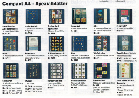 10 SAFE 465 Compact A4 Banknotenhüllen Hüllen Spezialblätter DIN A4 3 Taschen 220 x 97 mm Banknoten Geldscheine Papiergeld Notgeldscheine - Vorschau 4