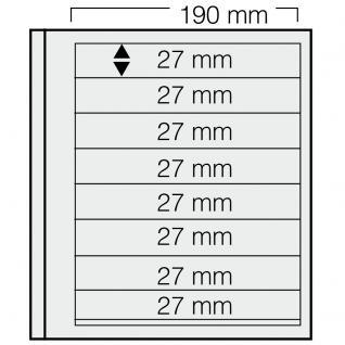 5 x SAFE 618 dual Blankoblätter Einsteckblätter Ergänzungsblätter mit je 8 Taschen 190 x 27 mm Für Briefmarken - Banknoten - Briefe - Postkarten