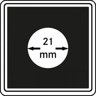 1 x LINDNER 2240021 Münzkapseln / Münzenkapseln CARREE 21 mm Für 1/4 Meaple Leaf Gold - 20 Cent Euro - 20 Kronen Österreich Gold - 2 & 20 Rappen - 50 Pfennig - Vorschau 1