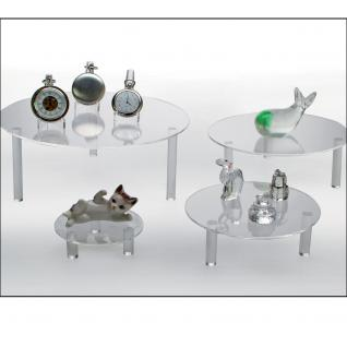 SAFE 5283 Runde ACRYL Präsentationsteller Deko Aufsteller 240 mm Für Porzellan - Glas - Ton - Keramik - Figuren - Tassen - Antiquitäten