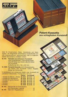 50 x A5 KOBRA K14 Kunstoff Einsteckkarten Steckkarten Schwarz 210 x 147 mm 4 Streifen 202 x 23 mm - Vorschau 3