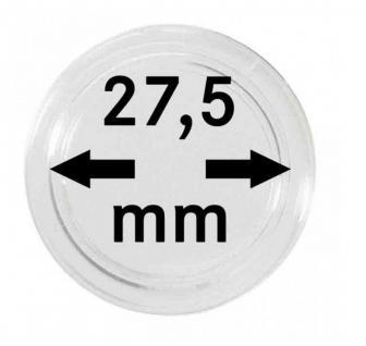 5 x SAFE 6727-5 Münzkapseln Capsules 27, 5 mm Für Deutsche 5 Euro Blauer Planet Erde & Klimazonen 2016, 2017, 2018, 2019, 2020, 2021