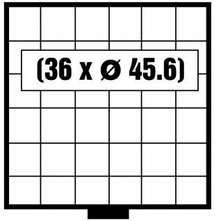 SAFE 6106 BEBA SCHUBLADEN Schuber 36 quadratische Fächer 45, 6 mm für Maxi Münzkasten