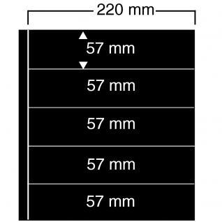 10 SAFE 455 Einsteckblätter Compact A4 - 5 schwarze Taschen 220 x 57 mm Für Banknoten Briefmarken