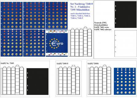 SAFE 7358 PREMIUM VOLKS - Album EUROMÜNZALBUM Vordruckalbum für 10x komplette EURO Kursmünzensätze KMS 1, 2, 5, 10, 20, 50 Cent 1, 2 Euro + Jahreszahlen -Flaggenset - Vorschau 2
