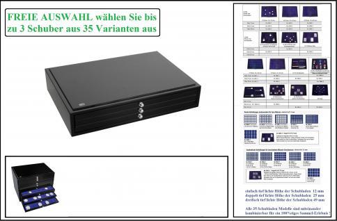 SAFE 6591-1 Schubladen Stapelelement Schatulle Classic KABINETT Sammelkassette in schwarzer Klavierlack Optik bis zu 3x Schubladen FREIE WAHL