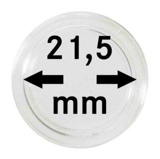 100 LINDNER Münzkapseln / Münzenkapseln Capsules Caps 21, 5 mm 2251215