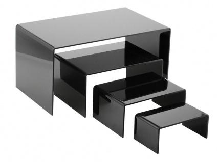 SAFE 5290-5 Schwarze ACRYL Präsentationsbrücke Deko Aufsteller 150x85x65 Für Schaufenster Fenster Vitrinen