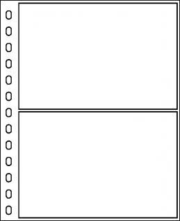 10 x LINDNER 802H Blanko-Blätter Weiß DIN A5 Silbergrauer Netzunterdruck + Schwarze Umrandunsglinie 13 er Lochung Format 174x215mm - Vorschau 5