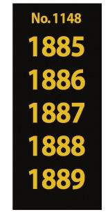 SAFE 1148 SIGNETTEN Aufkleber Jahreszahlen Year dates 1885 1886 1887 1888 1889