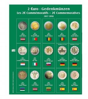 SAFE 7341-20 Premium Münzblätter 7393 mit Vordruckblättern 2 Euro Münzen Gedenkmünzen 2017 - 2018