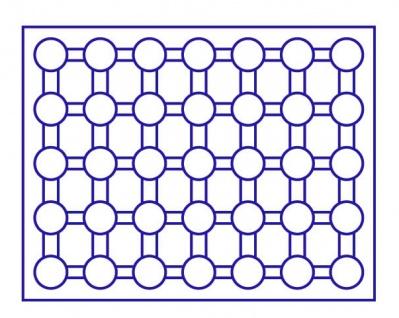 LINDNER 2494-11M CARUS-4 Echtholz Holz Münzkassetten 4 Tableaus blau 140 Fächer Münzen bis 32 x 32 mm 2 Euro in Münzkapseln 26 - Vorschau 3