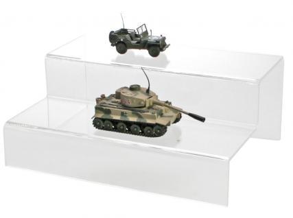 SAFE 5266 ACRYL Präsentations-Treppen Deko Aufsteller 2 Stufen Für Modellbau Militaria - Zinnsoldaten - Linoliumfiguren - Orden