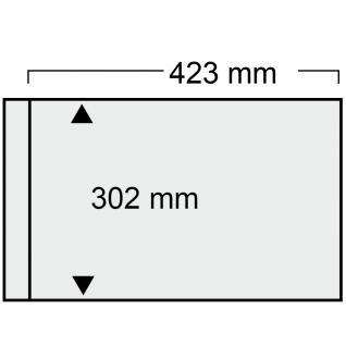 5 x SAFE 1021 Ergänzungsblätter mit 1 Taschen 423x302 mm + schwarze ZWL Für große Briefe & Belege