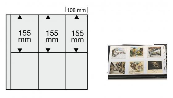 5 x SAFE 6020 Ergänzungsblätter WEISS Postkarten Ansichtskarten 6 Taschen 108 x 155 mm für 12 Karten - Vorschau 1