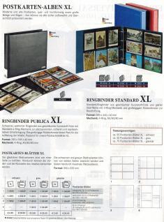 LINDNER 3008-W Postkartenalbum Ringbinder Standard XL Weinrot Rot + Kassette (leer) zum selbst befüllen - Vorschau 3