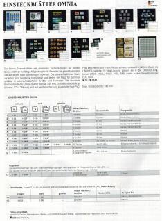 1 x LINDNER 055 Omnia Einsteckblätter weiss 25 Taschen 46 x 55 mm Für 50 Markenheftchen - Vorschau 2