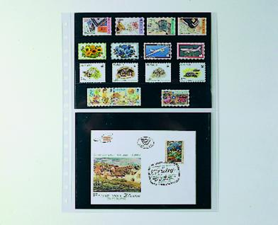 10 x SAFE 751 Einsteckblätter Favorit Folienblatt transparent glasklar Für 4x DIN A5 Einsteckkarten