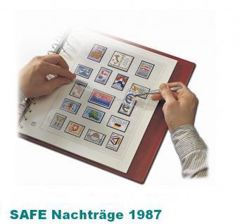 SAFE 1787 dual Nachträge - Nachtrag / Vordrucke Berlin Jahresschmuckblätter - 1987