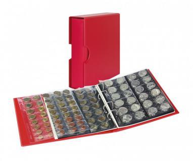 LINDNER S3542M-1 Berry Rot MULTI COLLECT Münzalbum PUBLICA M COLOR + Kassette + 10 Münzblätter Mixed + ZWL