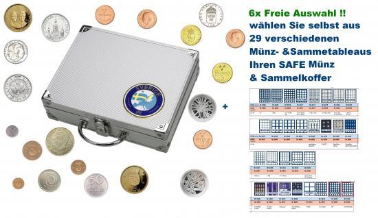 SAFE 248 ALU Länder Münzkoffer SMARTSchweden / Sweden / Sverige 6 Tableaus FREIE AUSWAHL aus 29 verschiedenen Münzen- und Sammeltableaus