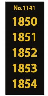 SAFE 1141 SIGNETTEN Aufkleber Jahreszahlen Year dates 1850 1851 1852 1853 1854