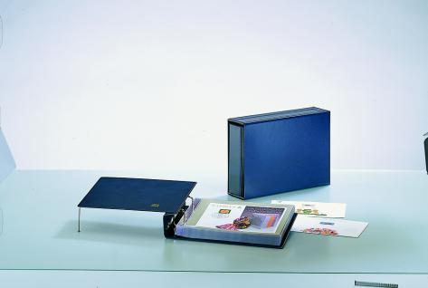 SAFE 7990 Compact-Quer Ringbinder Album Standard Blau 312x200x65 mm (leer) zum selbstbefüllen Für ETB, Briefe, FDC, Postkarten - Vorschau 1