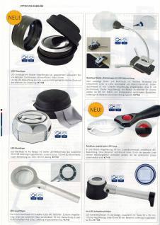 Lindner 7154 Randlose Leuchtlupe Klemmlupe Lupe + LED 2, 5x & 5x fache Vergrößerung Linse 87 mm - Vorschau 3