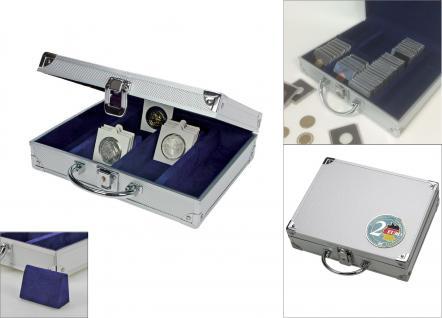 """SAFE 548 - 177-179 ALU Münzkoffer Premium Universal Euro Münzen mit """" Blauer 3D Euro """" Plakette für bis zu 220 Münzrähmchen Octo Quadrum Carree Münzkapseln - Vorschau 4"""