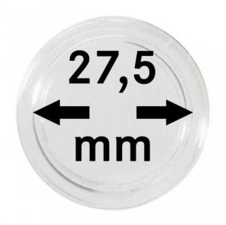 10 LINDNER Münzkapseln / Münzenkapseln Capsules Caps 27, 5 mm 2250275P Ideal für 5 Euro Blauer Planet