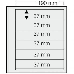 5 x SAFE 616 dual Blankoblätter Einsteckblätter Ergänzungsblätter mit je 6 Taschen 190 x 37 mm Für Briefmarken - Banknoten - Briefe - Postkarten