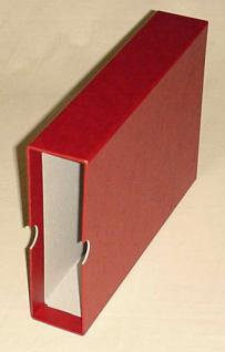 KOBRA G7K Schutzkassette Kassette Weinrot Rot Für das Universal Briefealbum Sammelalbum G7