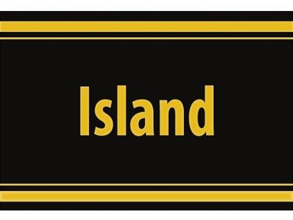 "1 x SAFE 1130 SIGNETTE Aufkleber selbstklebend "" Island """