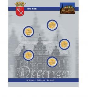 1 x SAFE 7821-5 TOPset Ergänzungsblatt Münzhüllen für 5x 2 Euromünzen Deutsche Bundesländer Bremen Bremer Rathaus 2010