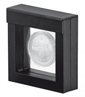 LINDNER 4839 NIMBUS 70 Schwarz Sammelrahmen Schweberahmen 3D 70x70x25 mm Für Mineralien Fossilien - Vorschau 3