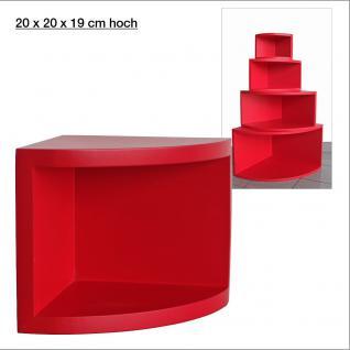 """SAFE 5342 Deko Präsentations Eck-Boards """" Syno Rot """" S - Small L 20 x H 20 x T 15 cm - Für alle Ihre Schätze von A - Z"""