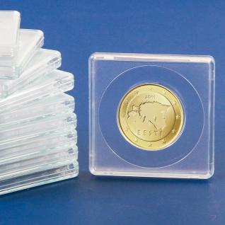 5 x SAFE 3125 Quadratische Münzkapseln Münzdosen Square 50x50 mm glasklar für Münzen bis 25 mm - Ideal für 50 Cent - 1 Mark Kaiserreich Silber - State Quarters USA - 10 Rubel Alexander Gold